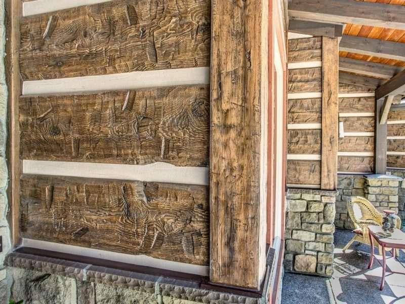 Montana Log Home with Concrete Log Siding 10