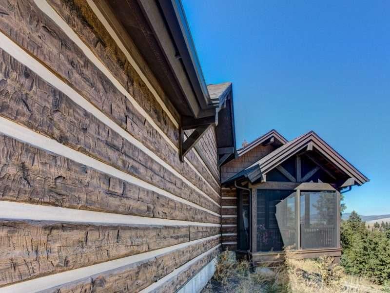 Montana Log Home with Concrete Log Siding 11