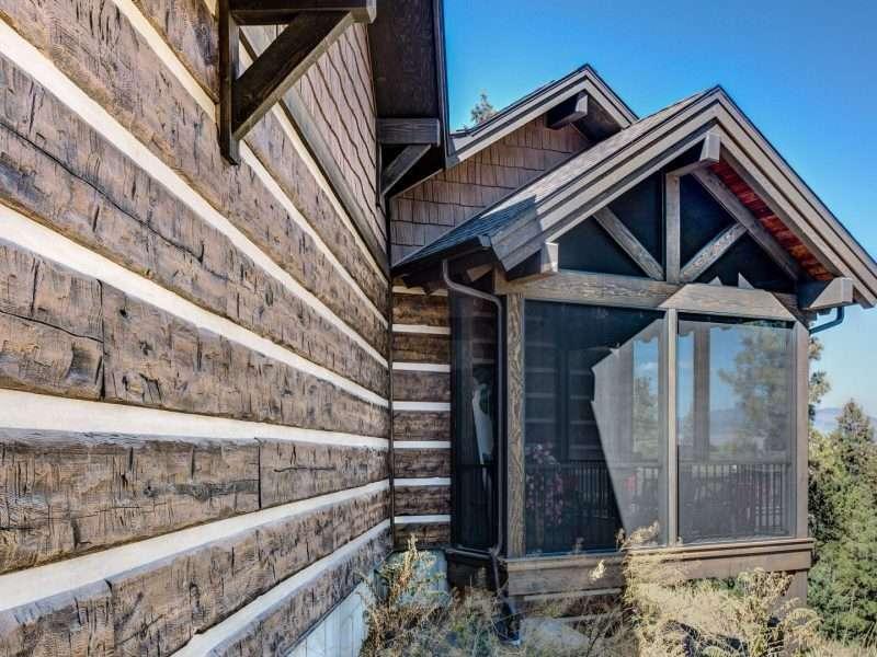Montana Log Home with Concrete Log Siding 12