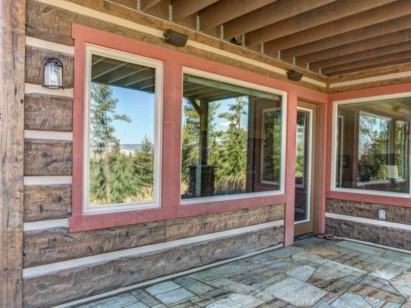 Montana Log Home with Concrete Log Siding 13