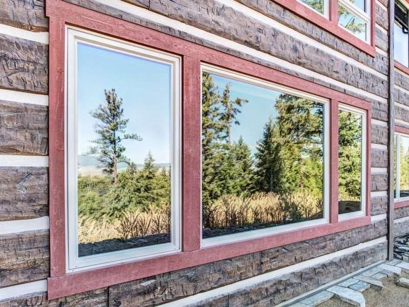 Montana Log Home with Concrete Log Siding 14