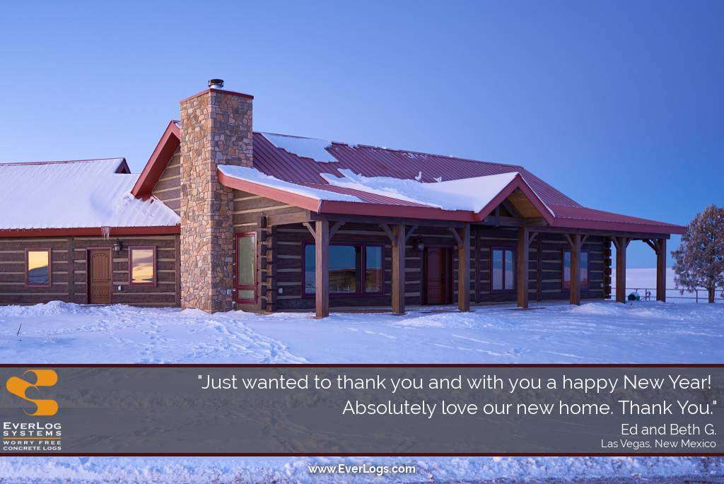 Las Vegas, New Mexico EverLog Concrete Log Home Testimonial