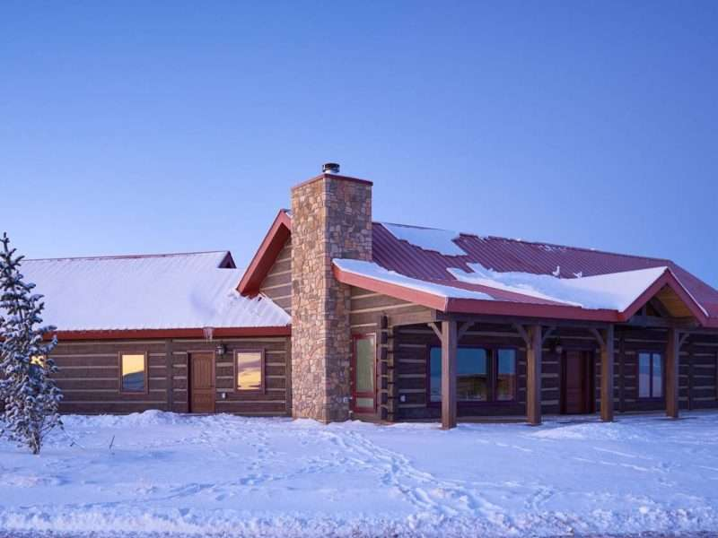 Las Vegas, New Mexico Concrete Log Ranch Home