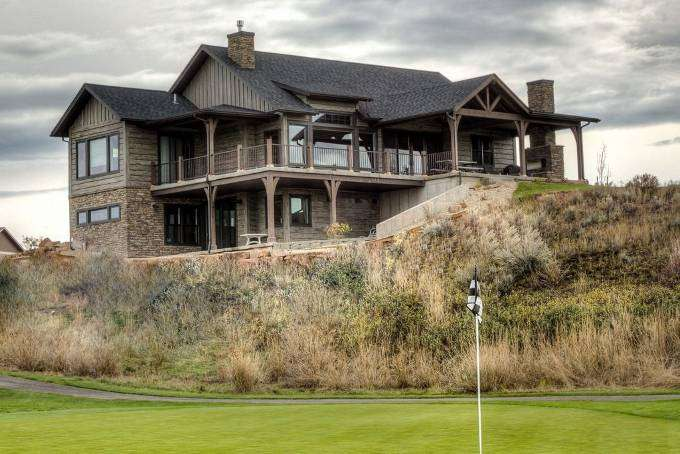Image of Concrete Timber Siding Golf Course Home EverLog Siding - made with Everlogs Concrete Logs, Siding, and Timbers