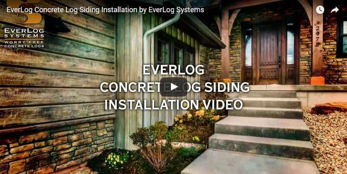 EverLog Concrete Log Siding Installation Video