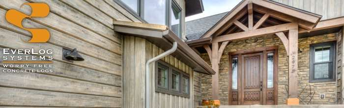EverLog Systems - Maintenance Free Concrete Log Cabin Homes and Log Houses