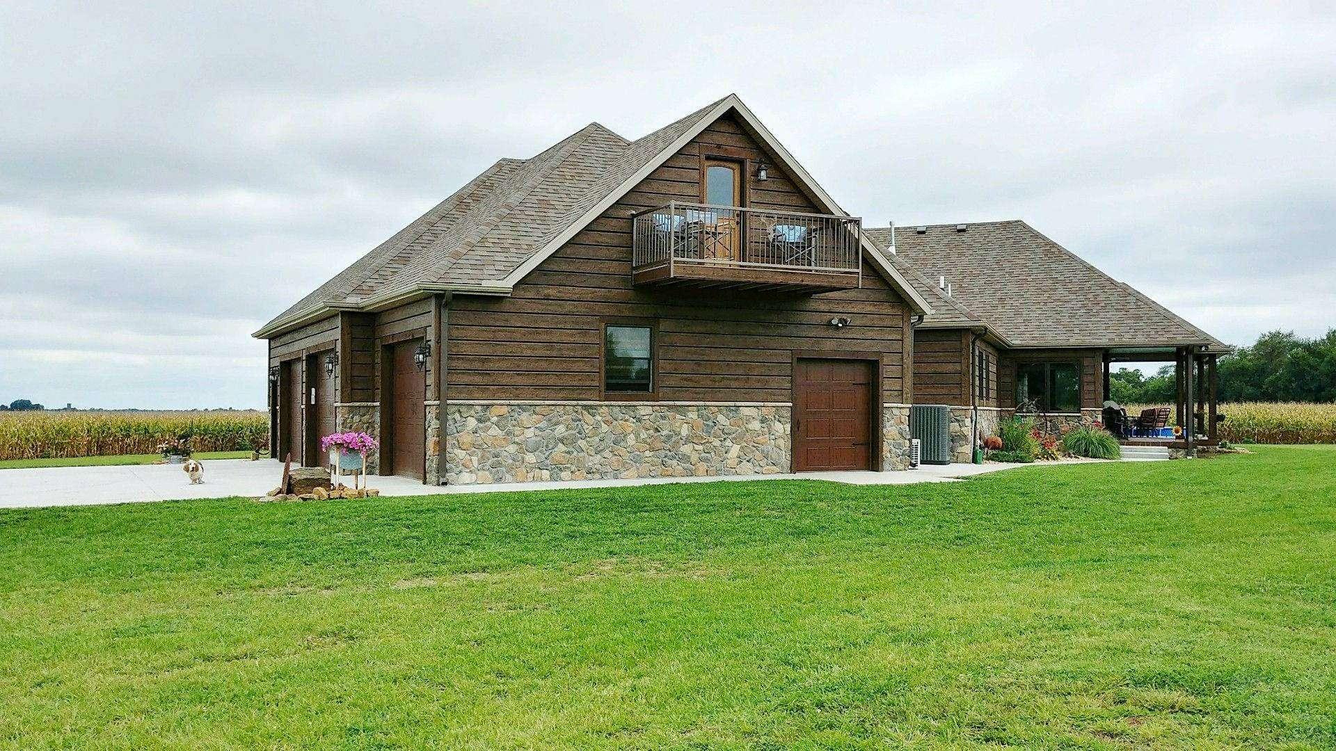 Scammon Kansas Log Sided Farm House Everlog Systems