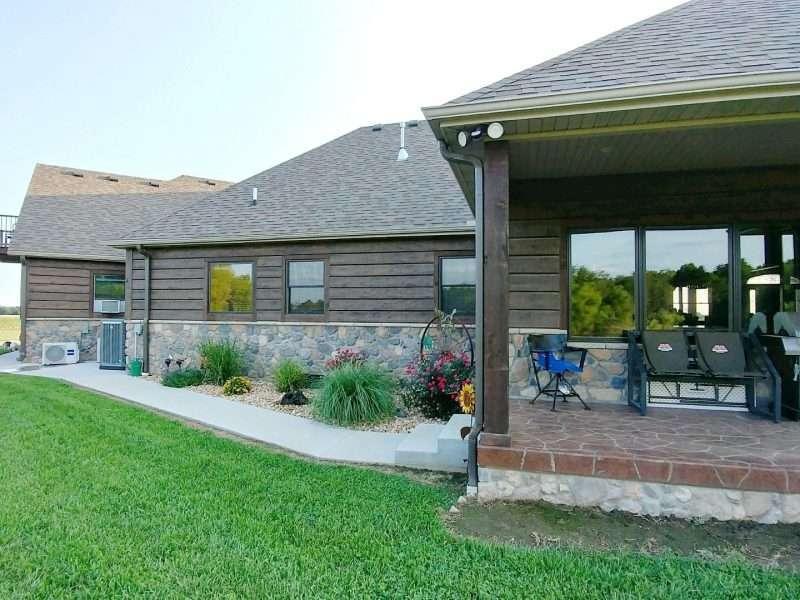 Scammon, Kansas Log Sided Farm House