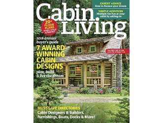 Cabin Living Magazine Concrete Log Siding Jan/Feb 2018