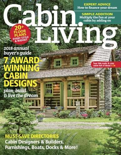 Cabin Living Magazine Cover