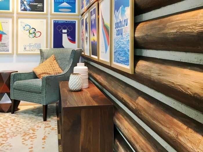NBC Winter Lodge Studio 2018 Pyeongchang Olympics Concrete Log Siding