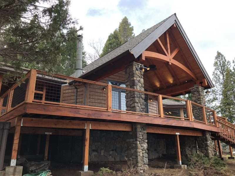 "Groveland, California Log Home Siding Remodel With 10"" Plank Golden EverLog Siding"