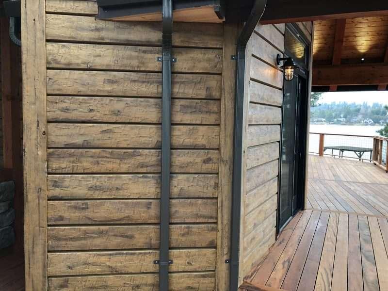 "Groveland, California Log Home Siding Remodel With 10"" Plank Golden EverLog Siding"