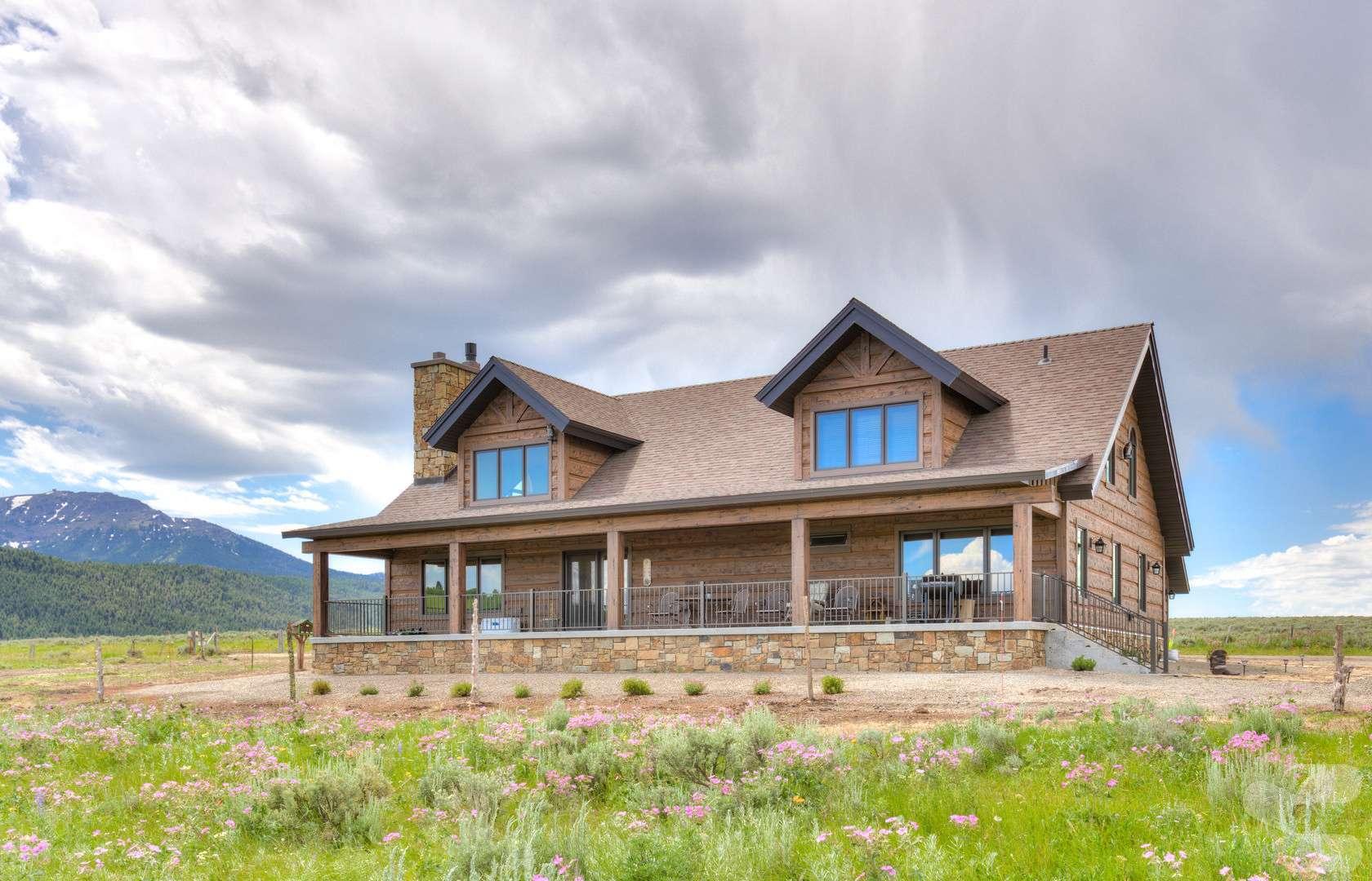 Hand-Hewn Log Siding Home on South Henry's Lake, Idaho