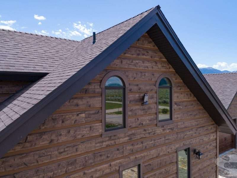 Hand-Hewn Log Siding Home on South Henry's Lake, Idaho