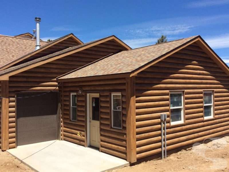 Howard, Colorado Addition and Remodel with EverLog Concrete Half Log Siding