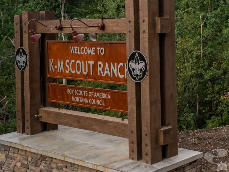 K-M Scout Ranch Lodge Timbers & Siding - Boy Scouts of America - Lewistown, MT