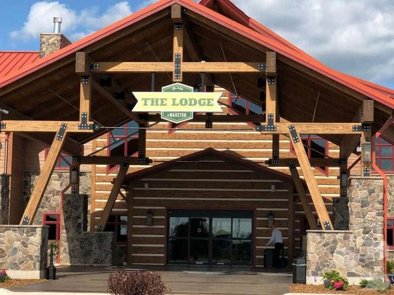 The Lodge at Mauston, Wisconsin Hand-Hewn Concrete Log Siding