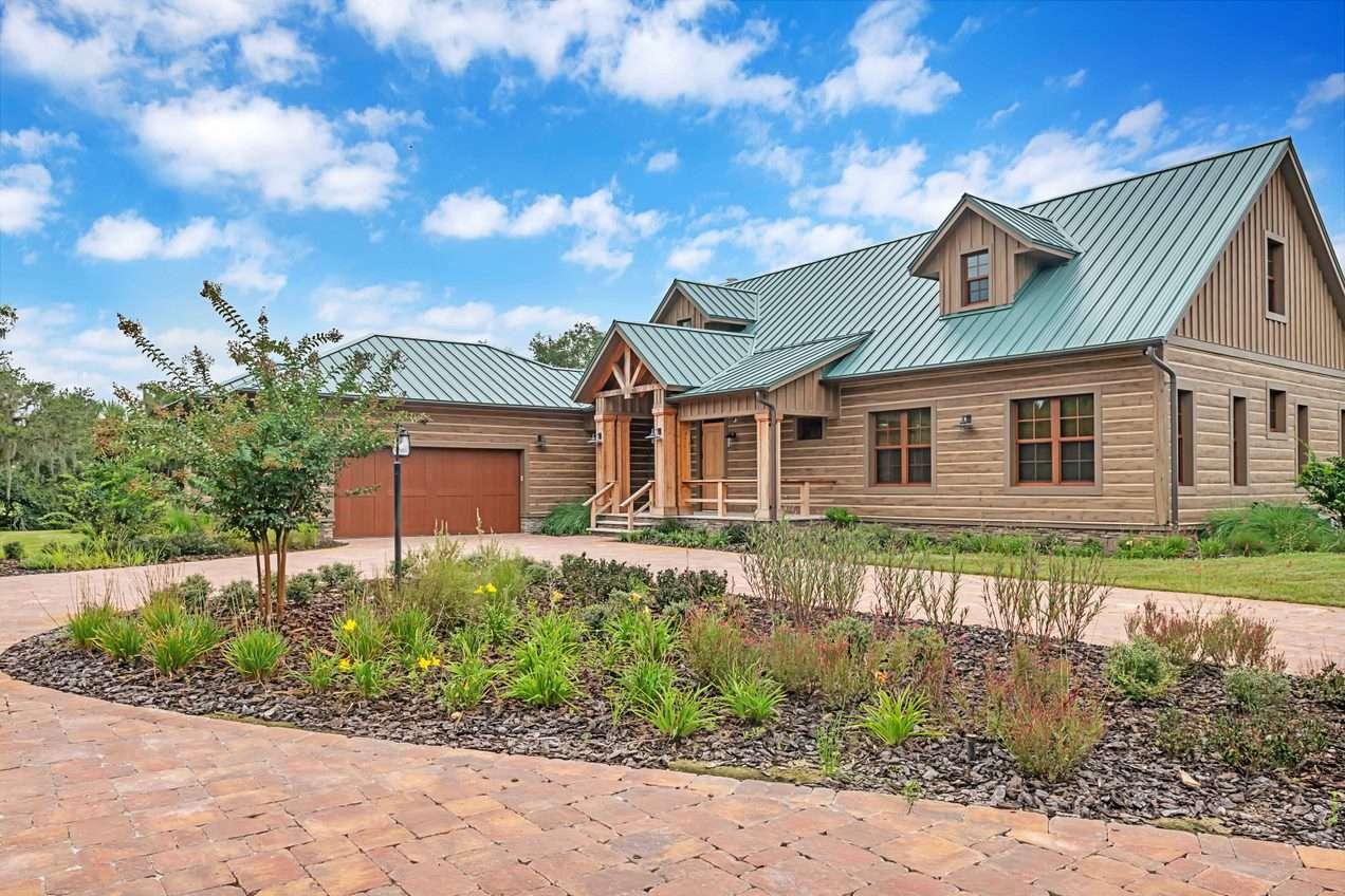 South Florida Concrete Timber Siding Ranch Home