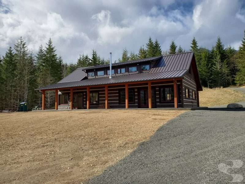 EverLog Concrete Log Siding on Quilcene WA Cabin
