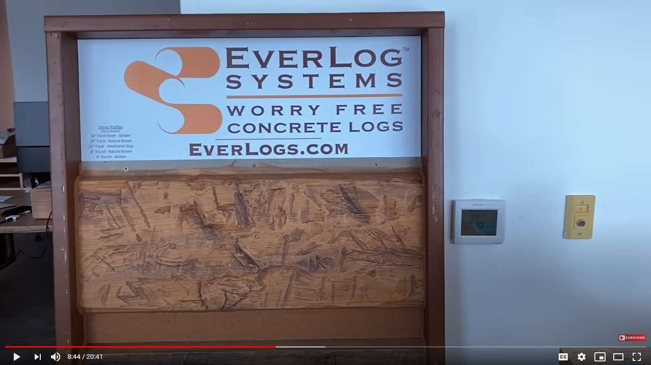 The Build Show with Matt Risinger Reviews Concrete Log Siding by EverLog Systems